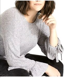 Lucky Brand Top Sweater Soft Heather Gray